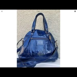 COACH POPPY Cobalt Blue PATENT Leather